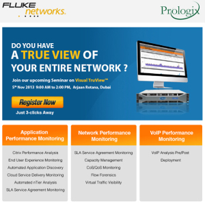 Fluke Networks Seminar| 5th Nov, 2013