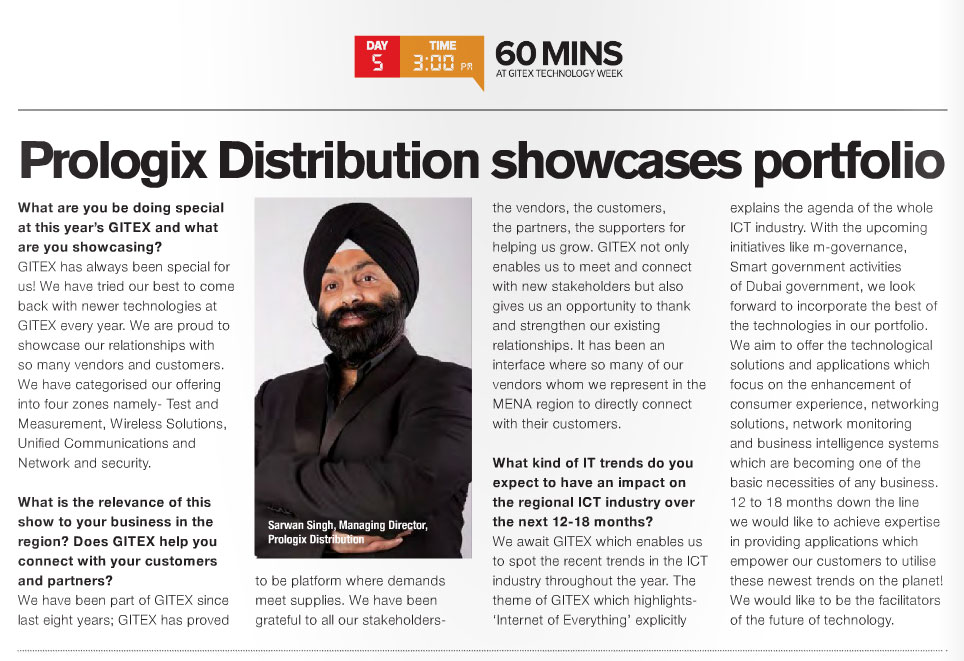Prologix Distribution showcases portfolio