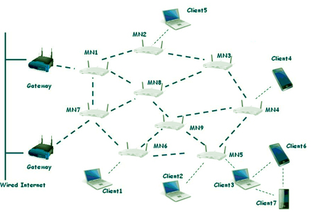 WLAN Wireless Mesh Network