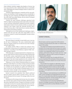 Feature Article on VOIP-Network ME Magazine