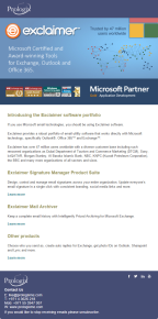 Introducing the Exclaimer software portfolio