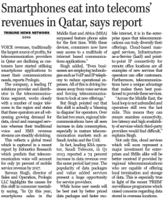 Smartphones eat into telecoms revenues in Qatar
