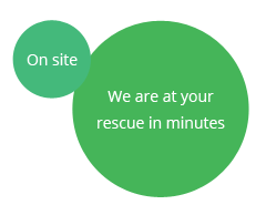 On site - We are at your rescue in minutes
